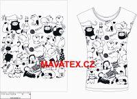 Panel na triko - černobílé kočky