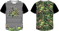 Panel na triko dvojitý  - dinosaurové