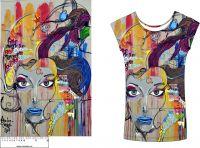 Panel na  triko-barevná tvář- VELKÝ
