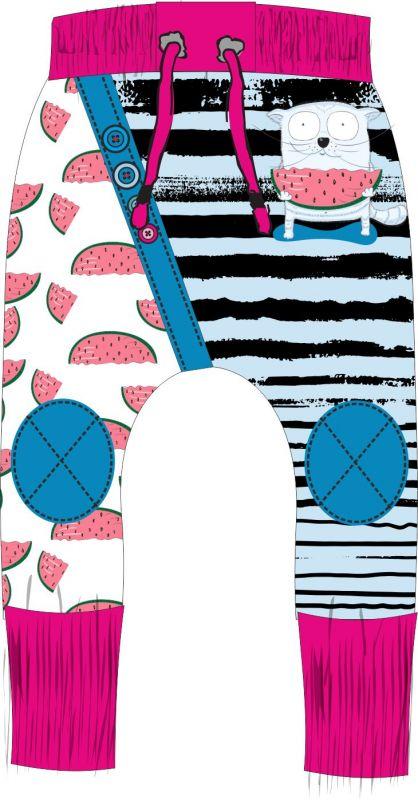 Panel na tepláčky - kočička s melounem -malý vyrobeno v EU