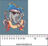 Chobotničák - aplikace k našití - kepr