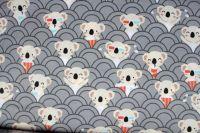 Šedá bavlna s koala mdvídky