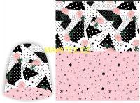 Panel na oboustrannou čepici - růžovo-černá