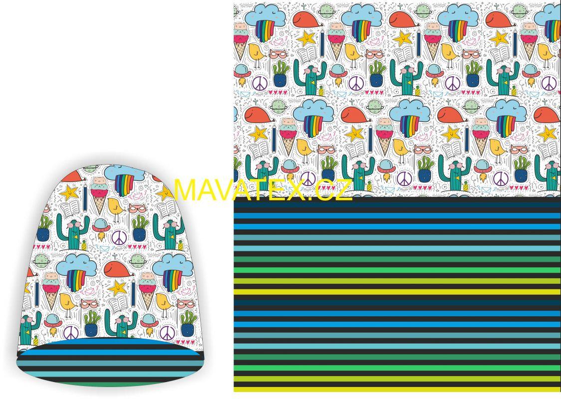 Panel na oboustrannou čepici - zmrzliňáci Mavatex