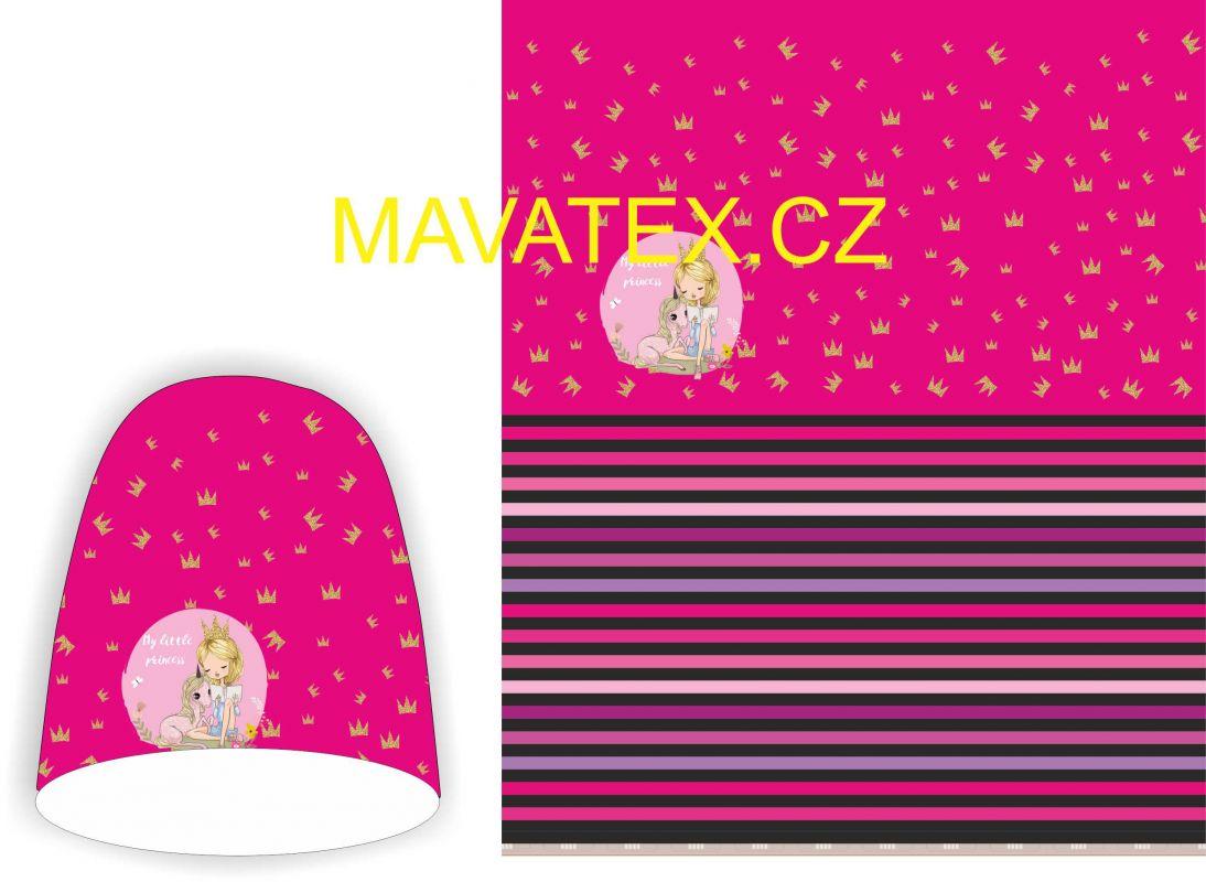 Panel na oboustrannou čepici - holčička s korunkou Mavatex