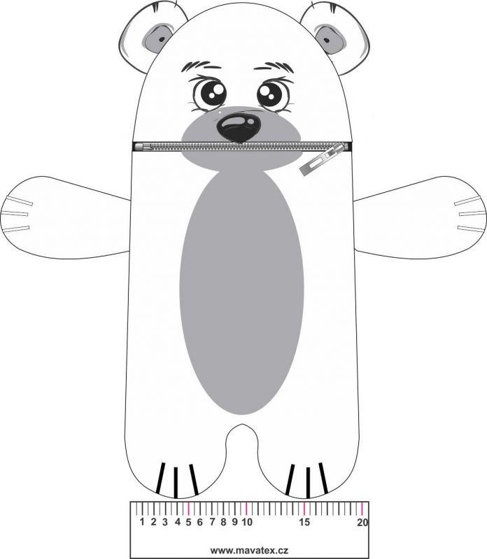 Pyžamožrout - medvěd bílý vyrobeno v EU- atest pro děti bavlna