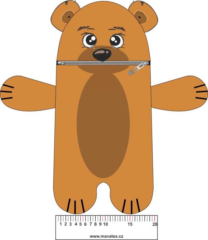 Pyžamožrout - medvěd hnědý vyrobeno v EU- atest pro děti bavlna