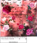 Růže červený mix - aplikace k našití - kepr
