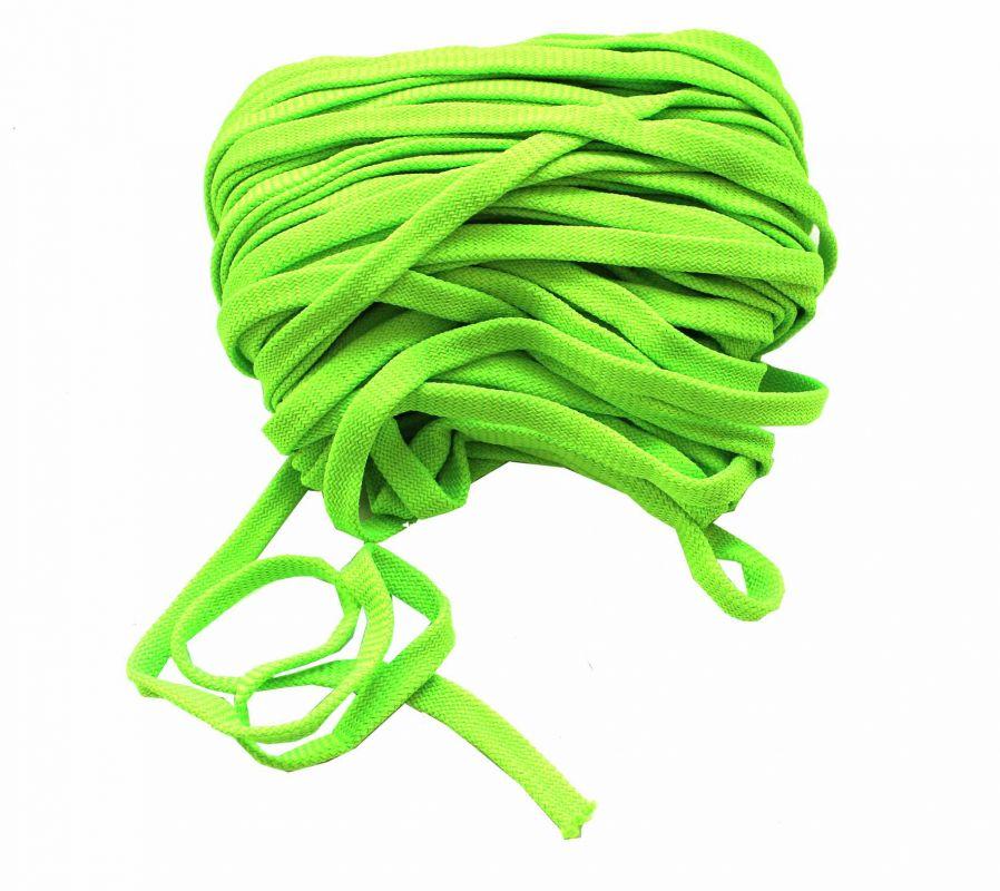 Plochá tkanice svítivě zelená 1,2cm vyrobeno v EU