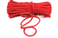 Oděvní tkanice červená- kulatá bavlněná