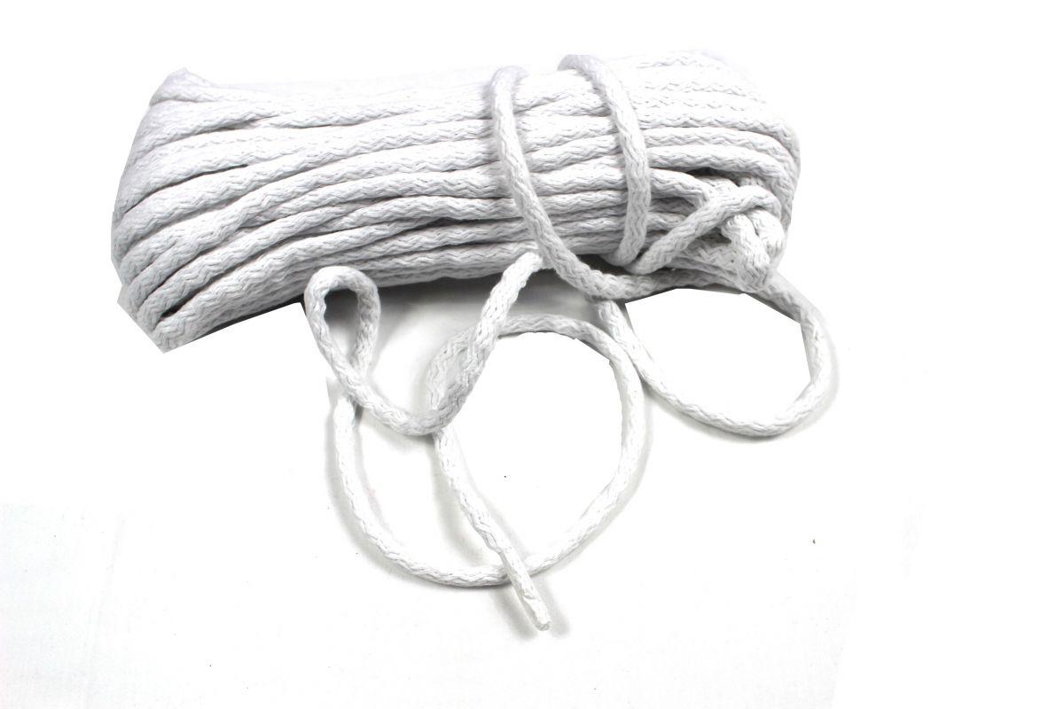 Oděvní tkanice bílá- kulatá bavlněná vyrobeno v EU