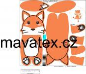 Pyžamožrout -liška oranžová vyrobeno v EU- atest pro děti bavlna