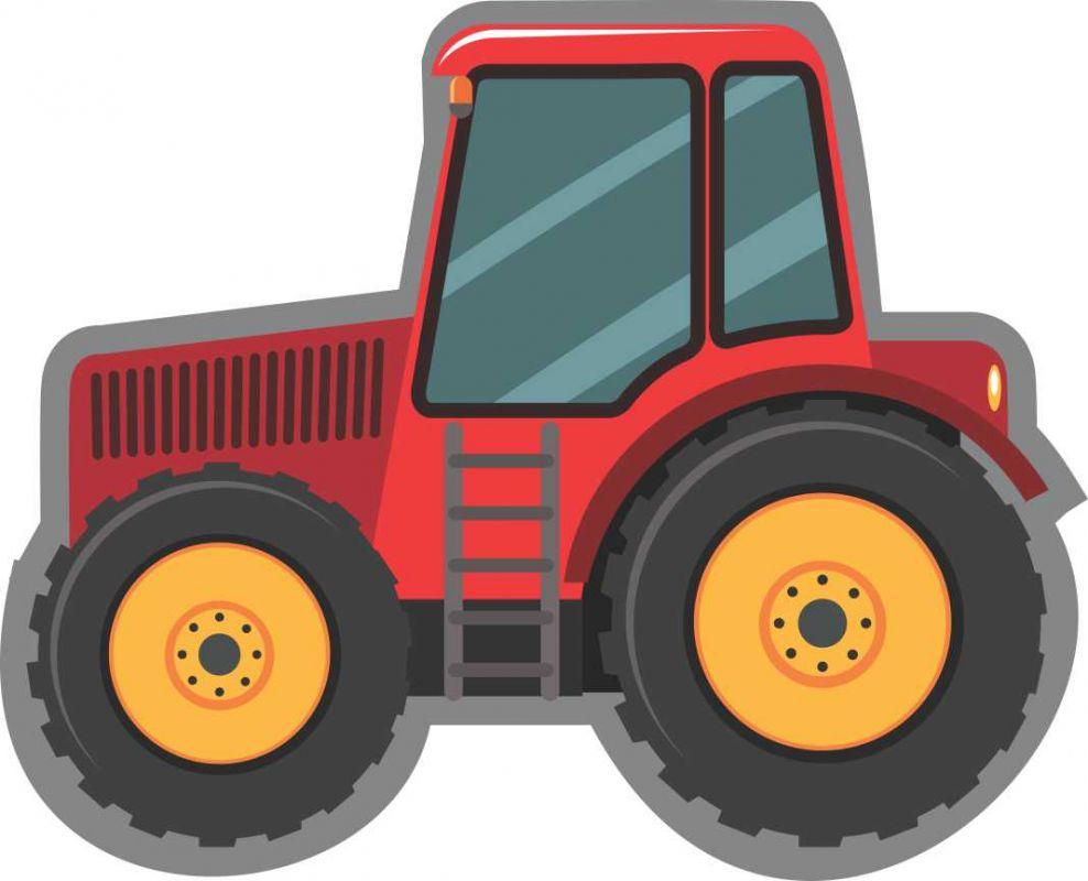 Pyžamožrout -traktor červený vyrobeno v EU- atest pro děti bavlna