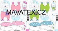 Pyžamožrout -zajíček růžový vyrobeno v EU- atest pro děti bavlna