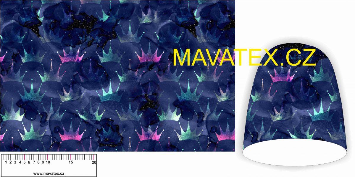 Panel na čepice SKEJŤAČKA - fialové korunky Mavatex