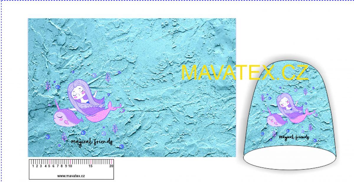 Panel na čepice SKEJŤAČKA - mořská panna Mavatex