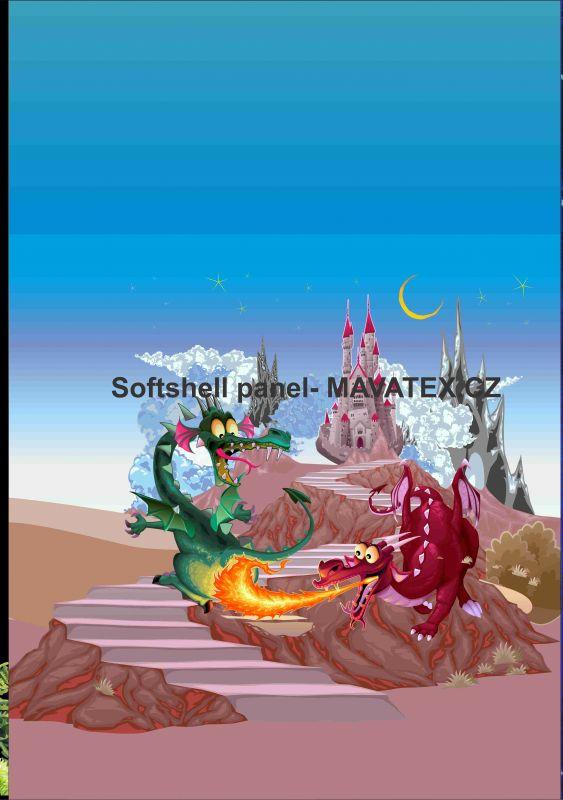 Softshell panel- přechodový ( zimní+letní) - draci na hradě vyrobeno v EU