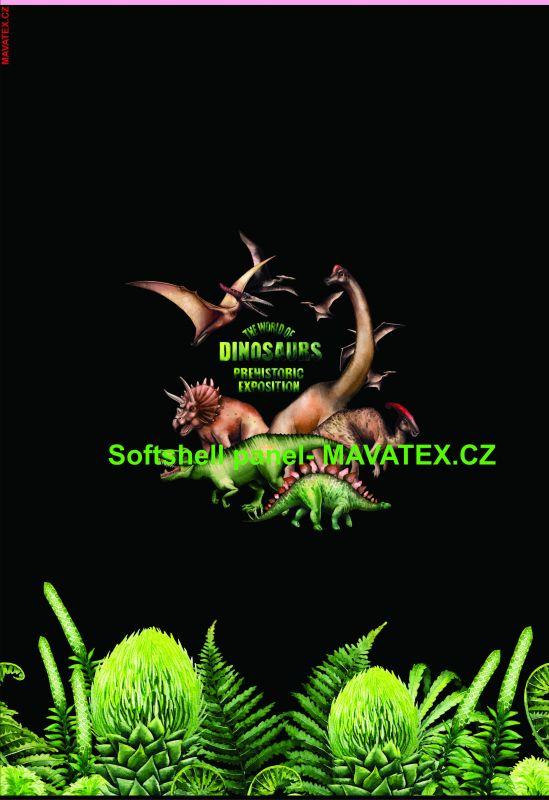 Softshell panel- přechodový ( zimní+letní) - dinosaurové vyrobeno v EU