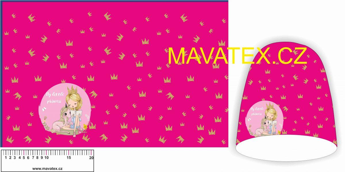 Panel na čepice SKEJŤAČKA - holčička s korunkou Mavatex
