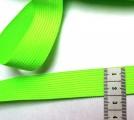 Tkanice plochá svítivě zelená -2 cm