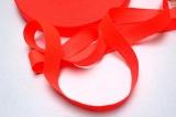 Tkanice plochá svítivě růžovo-oranžová -2 cm
