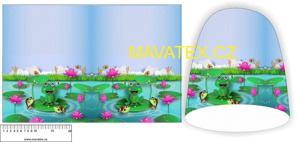 Panel na čepice -žabičky Tukan