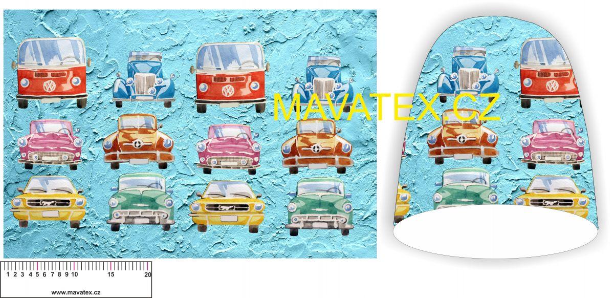 Panel na čepice SKEJŤAČKA - barevná autíčka vyrobeno v EU