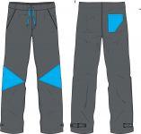 Papírový střih -Soft kalhoty slim fit