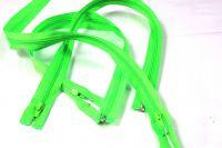Jasně zelený zip dělený - 60cm