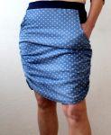 Papírový střih - DÁMSKÁ sukně úzká nařasená - xs- xl Mavatex
