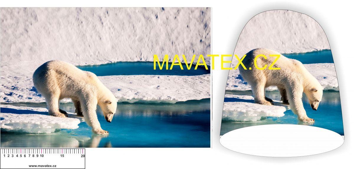 Panel na čepice -lední medvěd Tukan