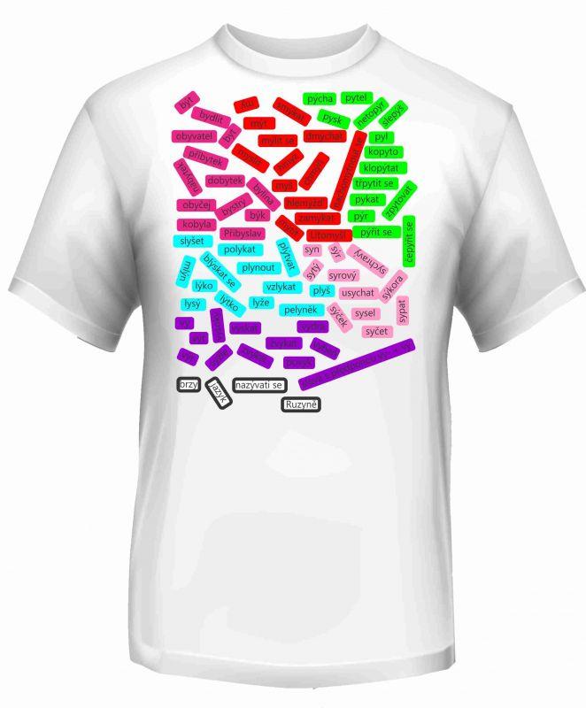 Panel triko - vyjmenovaná slova -3 vyrobeno v EU