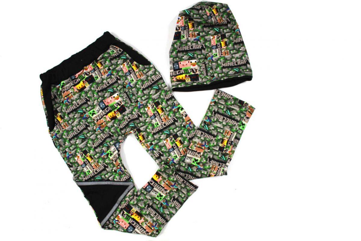 Papírový střih -Tepláky parkour MATOUŠ s přestřiženým zadním dílem Mavatex
