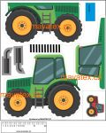 Pyžamožrout -traktor zelený vyrobeno v EU- atest pro děti bavlna