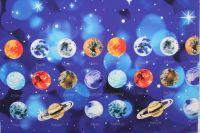 Panel na čepice - Softshell LETNÍ PLANETY