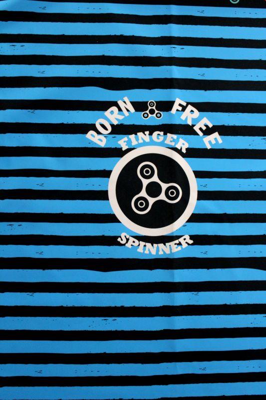 Softshell panel LETNÍ - spinery pruhy modré -2 jakost vyrobeno v EU
