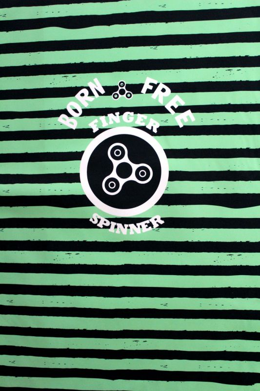 Softshell panel LETNÍ - spinery zelené pruhy -2 jakost vyrobeno v EU