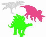 Nažehlovačka dinusaurs fluo zelená vyrobeno v EU