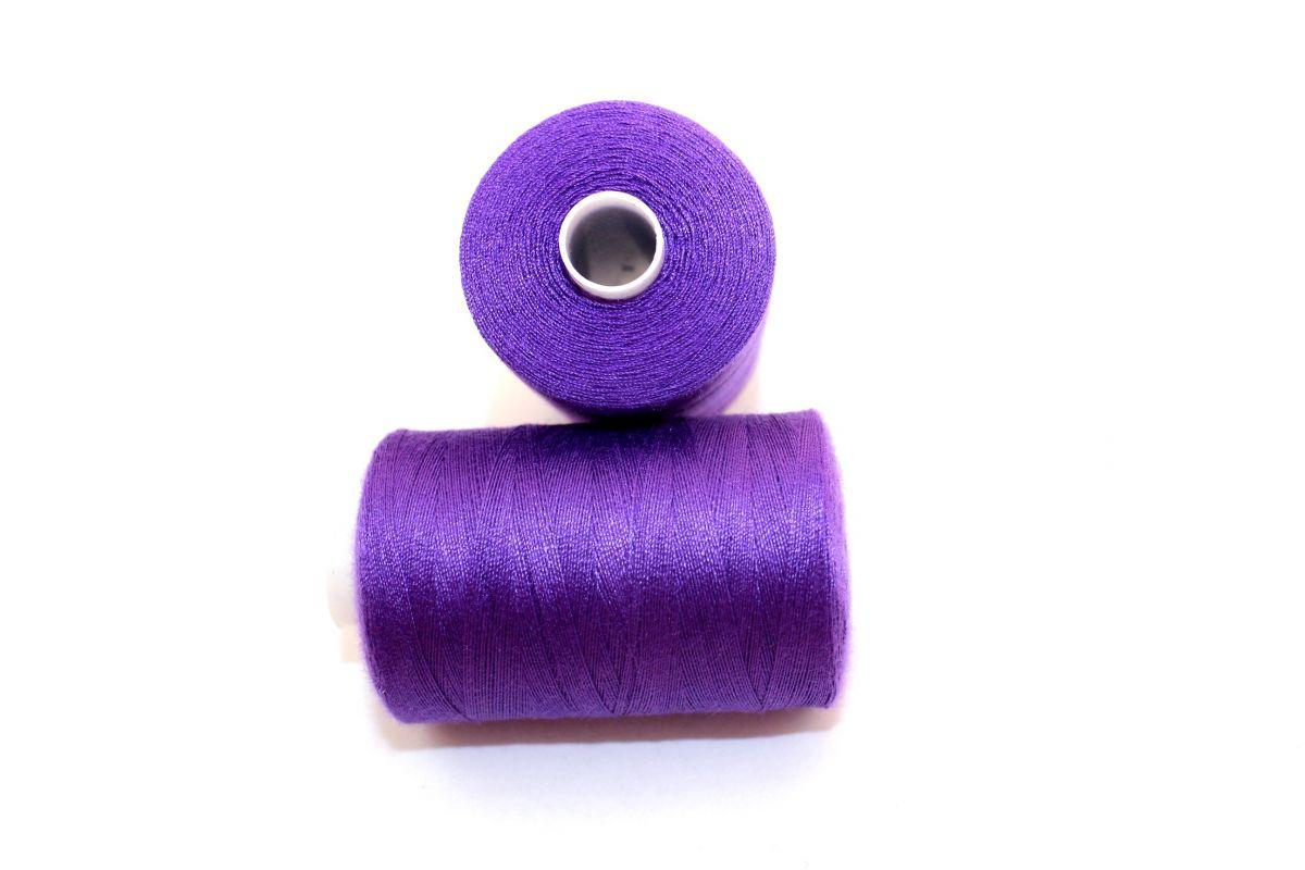 Nit fialová jasná 40/2 -1000 m - barva 170 vyrobeno v EU