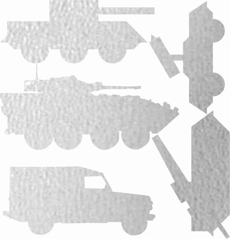 Nažehlovačka reflexka - tanky vyrobeno v EU