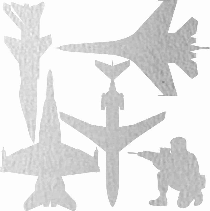 Nažehlovačka reflexka - letadla vyrobeno v EU