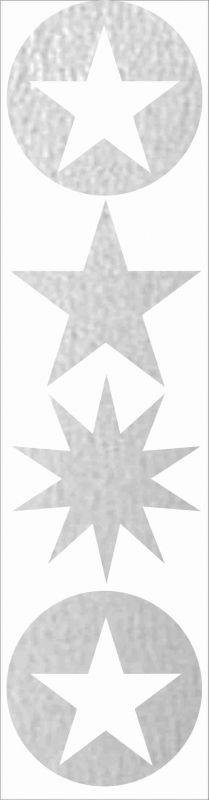 Nažehlovačka reflexka - hvězdičky vyrobeno v EU