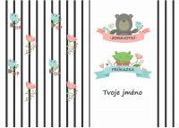 Obal na očkovací průkaz - medvěd a žába