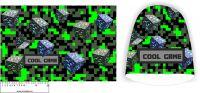 Panel na čepice - cool game zelení kostky