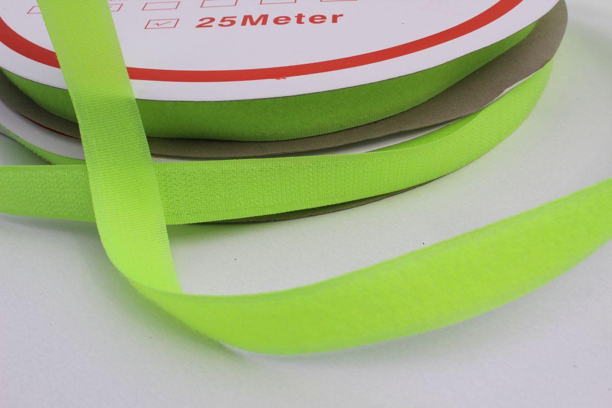Suchý zip komplet - svítivě zelená - komplet - šíře 2 cm vyrobeno v EU
