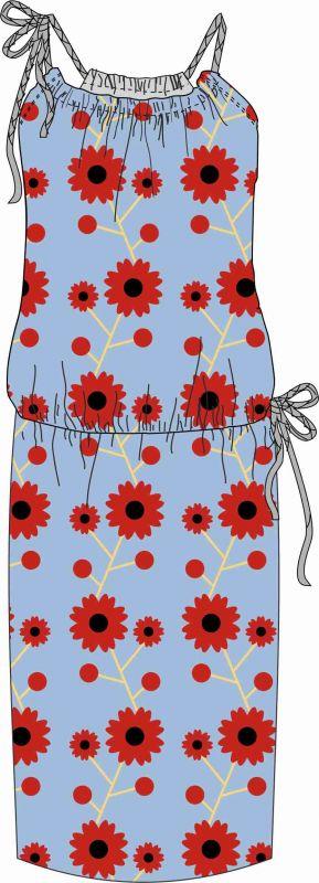 Elektronický střih - DÁMSKÉ šaty na šňůrky BASIC-XS-4XL Mavatex