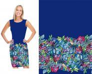 Panel triko Dámský/ dětský- BORDURA fialová malované vážky