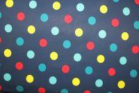 Softshell tmavě modrý s barevnými puntíky  -zimní