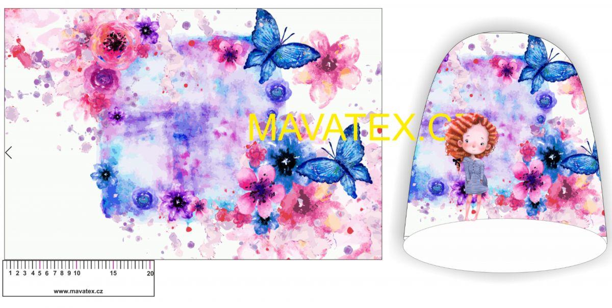 Panel na čepice -LORA s motýlky vyrobeno v EU