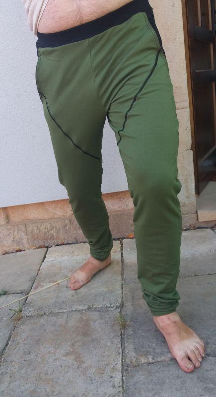 Papírový střih -PÁNSKÉ tepláky - úzké nohavice slim fitt -vel:46-56 Mavatex